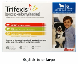 Trifexis 40.1-60lbs 810mg 12 month