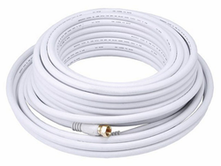 50 Feet RG6 Coaxial Cable for HDTV Antenna, CATV, and SATV applications