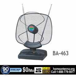 LAVA BA463 Indoor HDTV VHF/UHF/FM Antenna w/ Super Low Noise Amplifier