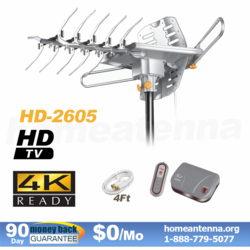 Top Rated 4K LAVA HD2605 Outdoor TV Antenna with motor rotor on SALE