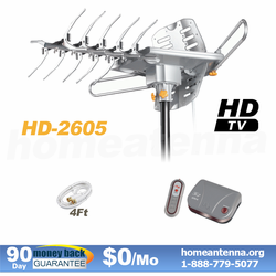 150 Mile Range LAVA 4K HDTV Antenna with Remote Controlled Lava HD-2605