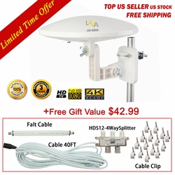 [FREE Installation Kit $42.99 value] 360 Degree 4k Omnidirectional TV Antenna OmniPro HD-8000