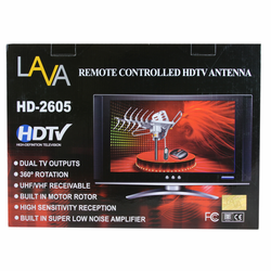 Refurbished LAVA HD2605 Motorized Outdoor HDTV UHF/VHF Antenna With 20% More Gain