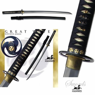 Hanwei (Paul Chen) Great Wave Wakizashi - Ships Free