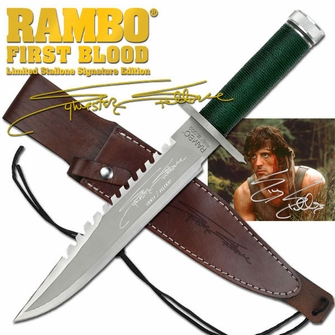 Rambo 1 - Sylvester Stallone Signature Knife - Ships Free!