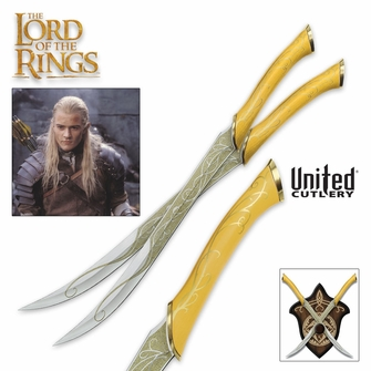 The Fighting Knives of Legolas Greenleaf -Ships Free!