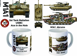 "2nd Tank Battalion ""Ace In The Hole"" M1A1 Mug"