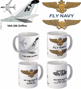 A-3 Skywarrior Squadron Mugs