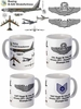 B-52 With Wings Rank and Text mug