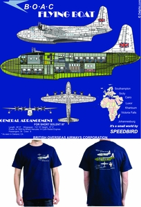 BOAC Flying Boat T-shirt