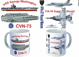 F/A-18 Super Hornet - Nimitz Carrier Mug