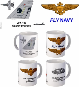 "VFA-192 ""Golden Dragons"" FA-18 Coffee Mug"