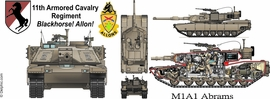 M1A1 11th Armored Cavalry Regiment Mug