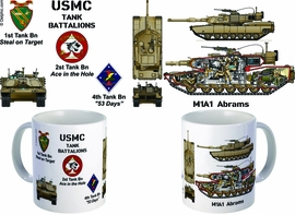 M1A1 Abrams 2nd Bn.,34th Armor, 1st Inf. DIV. Mark I Coffee Mug
