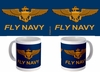 Naval Aviator Wings Blue Mug