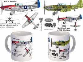 P-51 Mustang as flown by LT Clinton Burdick mug