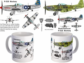 P-51 Mustang as flown by LT Louis Curdes mug