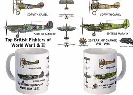 Sopwith Camel and Spitfire Mug