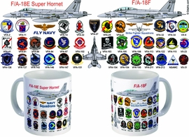 Super Hornet F/A-18 All Squadron Mug