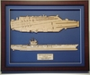 USS Bush CVN-77 Wood Model