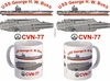 USS  George H. W. Bush CVN-77 Coffee Mug