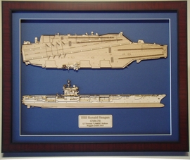 USS Ronald Reagan CVN-76 Wood Model