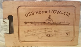 USS Ticonderoga (CVA-14) Cutting Board