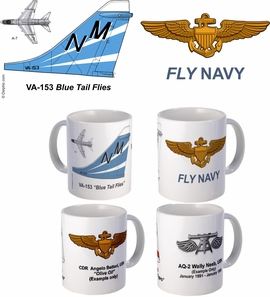 "VA-153 ""Blue Tail Flies"" A-7 Corsair II Mug"