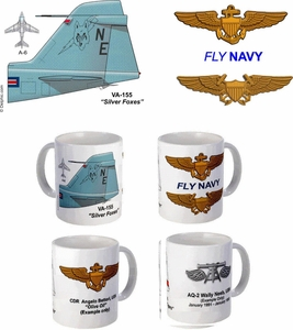 "VA-155 ""Silver Foxes"" A-6 Intruder Mug"