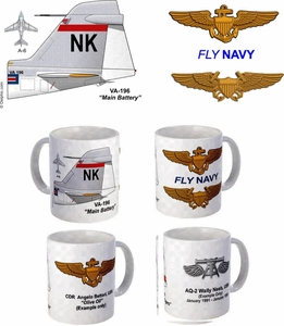 "VA-196 ""Main Battery"" A-6 Intruder Mug"