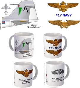 "VA-205 ""Green Falcons"" A-6 Intruder Mug"