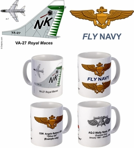 "VA-27 ""Royal Maces"" A-7 Corsair II Mug"