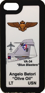"VA-34 ""Blue Blasters"" A-6 iPhone 5 Cover"