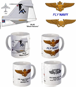 "VA-85 ""Black Falcons"" A-6 Intruder Mug"