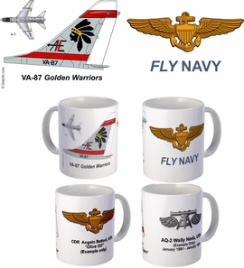 "VA-87 ""Golden Warriors"" A-7 Corsair II Mug"