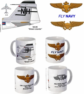 "VA-95 ""Green Lizards"" A-6 Intruder Mug"
