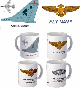 "VAQ-33 ""Firebirds"" A-7 Corsair II Mug"