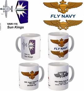 "VAW-113 ""Black Eagles"" E-2 Hawkeye Mug"
