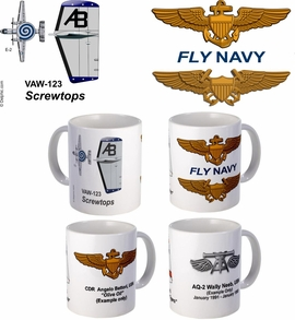 "VAW-123 ""Screwtops"" E-2 Hawkeye Mug"
