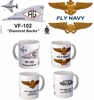 "VF-102 ""Diamond Backs""  F-4 Phantom II Mug"