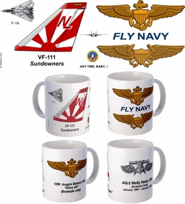 "VF-111 ""Sundowners""  F-14 Tomcat Mug"