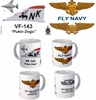 "VF-143 ""Pukin Dogs"" F-4 Phantom II Mug"