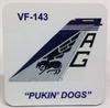 "VF-143 ""Pukin Dogs"" F-14 Tomcat Coaster Set of 4"