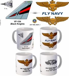 "VF-154 ""Black Knights"" F-14 Tomcat Mug"
