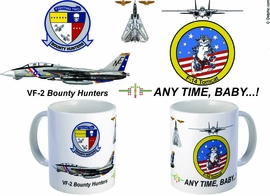 "VF-2 ""Bounty Hunter"" F-14 Tomcat Mug"