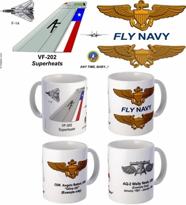 "VF-202 ""Superheats"" F-14 Tomcat Mug"