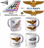 "VF-211 ""Fighting Checkmates"" F-14 Tomcat Mug"
