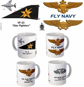 "VF-33 ""Star Fighters"" F-4 Phantom II Mug"