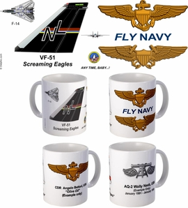 "VF-51 ""Screaming Eagles"" F-14 Tomcat Mug"