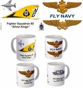 "VF-92 ""Silver Kings""  F-4 Phantom II Mug (72-75)"